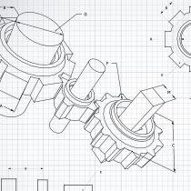 Getriebe-Zeichnung